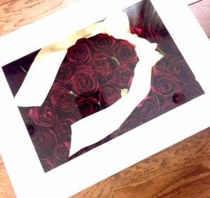 赤薔薇40本を美しく保存